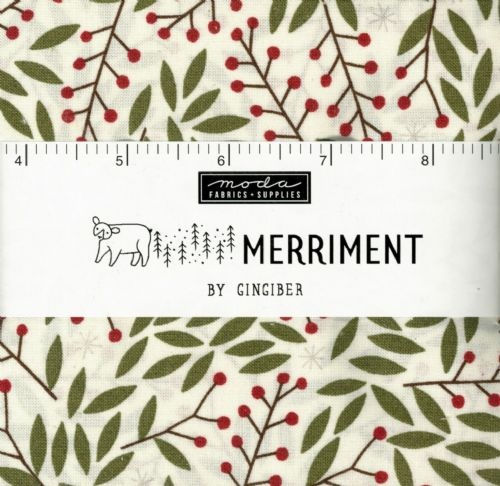 "Moda Charm Pack - Merriment (42 x 5"" patchwork fabric squares)"